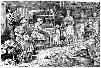Colonial Cloth Makers Art Print