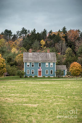 Red Doors Photograph - Colonial Home by Edward Fielding