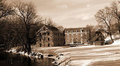 Photograph - Colonial Industrial District - Long View - Sepia by Jacqueline M Lewis