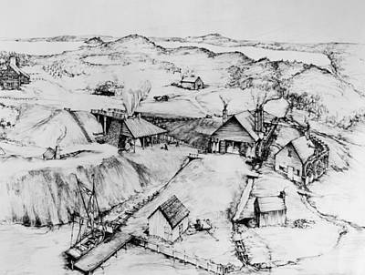 Drawing - Colonial Iron Works by Granger