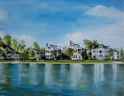 Colonial Lake In Charleston  Art Print