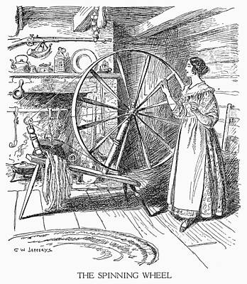 Colonial Spinner Art Print
