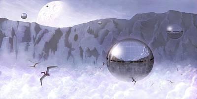 Colonisation Of Alien World Art Print by Mark Garlick