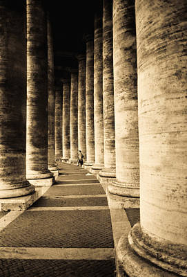 Photograph - Colonnade In Piazza San Pietro Vatican by Emanuel Tanjala