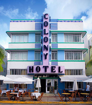 Photograph - Colony Hotel Daytime by Gary Dean Mercer Clark