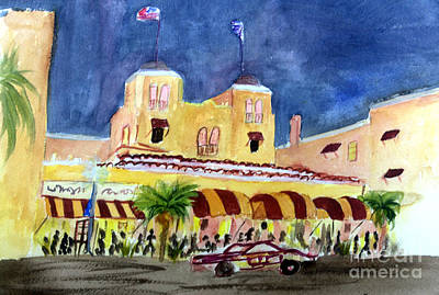 Colony Hotel In Delray Beach Art Print by Donna Walsh