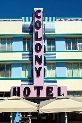 Photograph - Colony Hotel by Ricardo J Ruiz de Porras