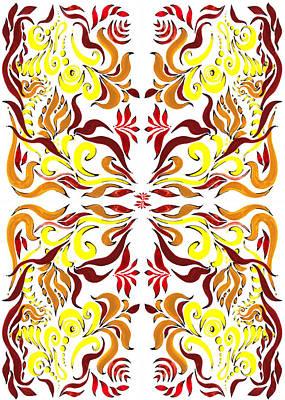 Color And Lines Pattern II Art Print by Irina Sztukowski