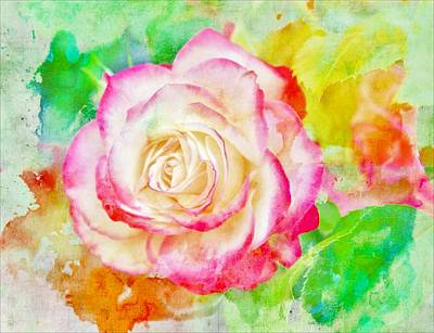 Oregon Art Digital Art - Color And Rose by Cathie Tyler
