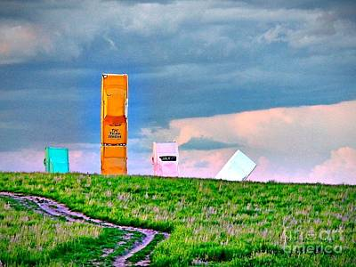 Photograph - Color At Carhenge Nebraska by Phyllis Kaltenbach