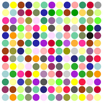 Digital Art - Color Balls Minimalist Poster by Celestial Images
