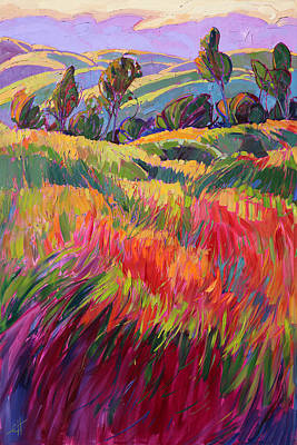 Wine Country Landscape Painting - Color Bank by Erin Hanson