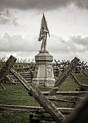 Photograph - Color Bearer At Antietam National Battlefield by Phil Cardamone