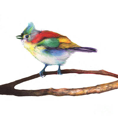 Drawing - Color Bird 8 by Anthony Burks Sr