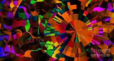 Digital Art - Color Burst - Orange by Kristi Kruse
