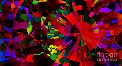 Digital Art - Color Burst - Red by Kristi Kruse
