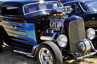 Photograph - Color Chrome 1932 Black Ford Coupe by Tikvah's Hope