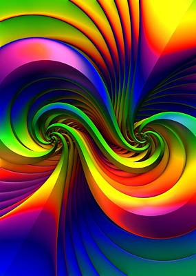 Abstract Realism Digital Art - Color Circus by Lyle Hatch