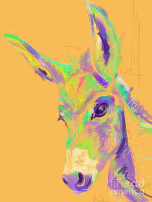 Painting - Color Donkey by Go Van Kampen
