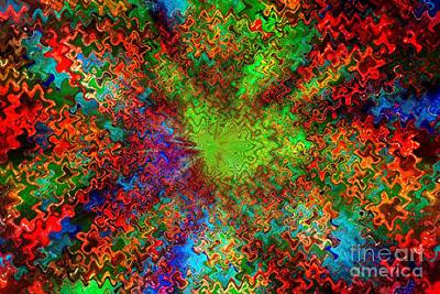 Color Explosion Abtract Art Print by Carol Groenen