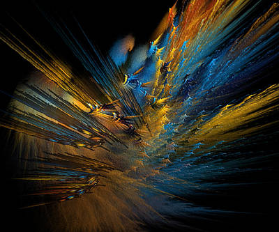 Abstract Digital Digital Art - Color Explosion by Camille Lopez