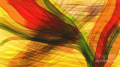 Color Flow Art Print by Hilda Lechuga