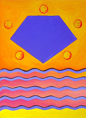 Painting - Color Geometry - Pentagon by Carolyn Goodridge