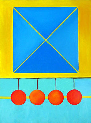 Painting - Color Geometry - Square by Carolyn Goodridge