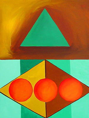 Painting - Color Geometry - Triangle by Carolyn Goodridge