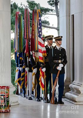 Jefferson Memorial Digital Art - Color Guard by Jerry Fornarotto