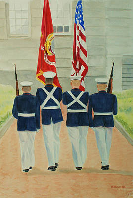 Color Guard Art Print