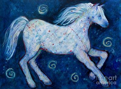 Painting - Color Horse Blue Go Running by Carol Suzanne Niebuhr