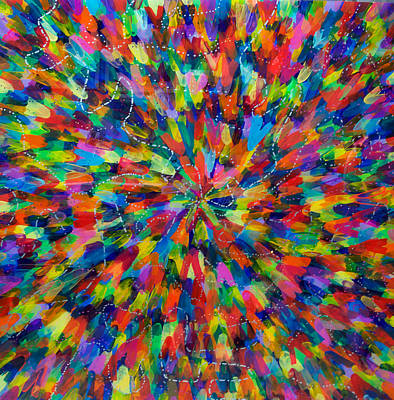 Color Implosion Art Print by Patrick OLeary