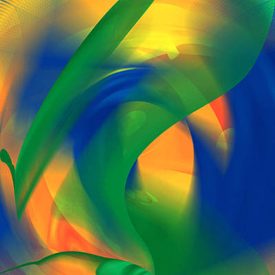 Digital Art - Color In The Beginning Abstract by rd Erickson