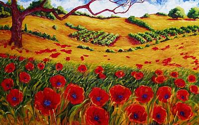 California Vineyard Painting - Color In The Vineyards by Lisa V Maus