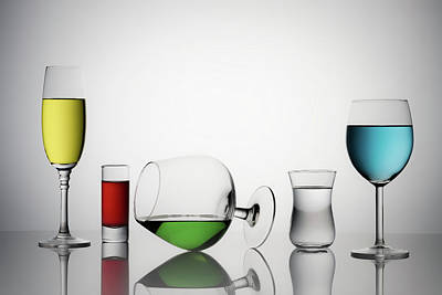 Champagne Glasses Photograph - Color Liqued by Saleh Swid