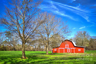 Farm Scenes Photograph - Color Me Red 2 by Reid Callaway
