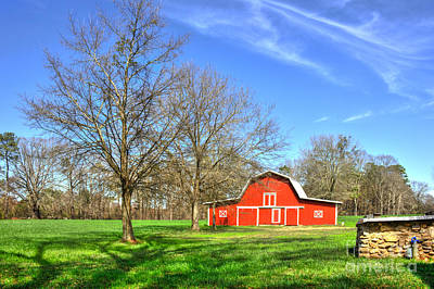Farm Scenes Photograph - Color Me Red  by Reid Callaway