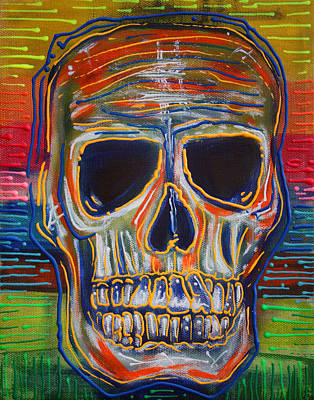 Human Skeleton Painting - Color My Soul by Laura Barbosa