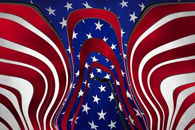 Stars And Stripes Mixed Media - Color Of Angels by Robert Marlon