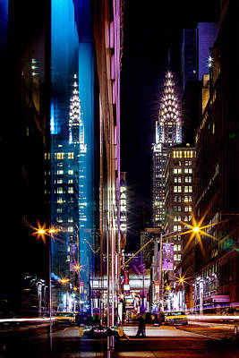 Night Photograph - Color Of Manhattan by Az Jackson