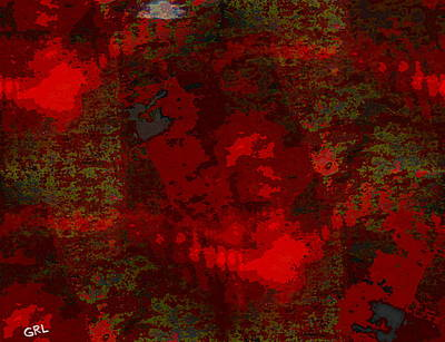 Painting - Color Of Red Dscn0038 Contemporary Digital Art by G Linsenmayer