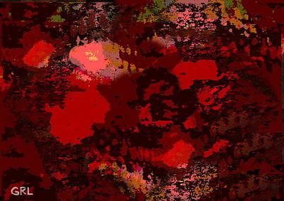 Painting - Color Of Red II Dscn0038 Contemporary Digital Art by G Linsenmayer
