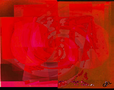 Painting - Color Of Red Iv Contemporary Digital Art by G Linsenmayer