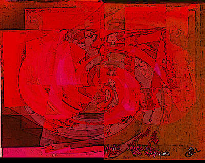 Painting - Color Of Red Ivb Contemporary Digital Art by G Linsenmayer