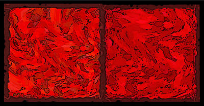 Painting - Color Of Red Vi Contemporary Digital Art by G Linsenmayer