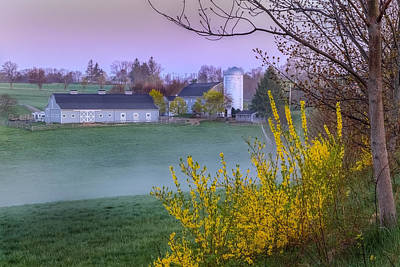 Farm Scene Photograph - Color Of Spring by Bill Wakeley