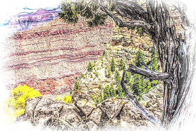 Photograph - Color Of The Canyon - Digital by Fred Larson