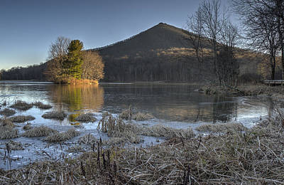 Photograph - Color On A Frozen Lake by Steve Hurt
