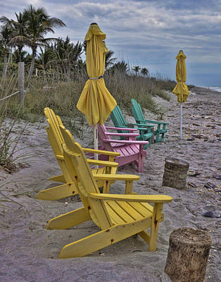 Photograph - Color On A Gray Day by Sandy Poore